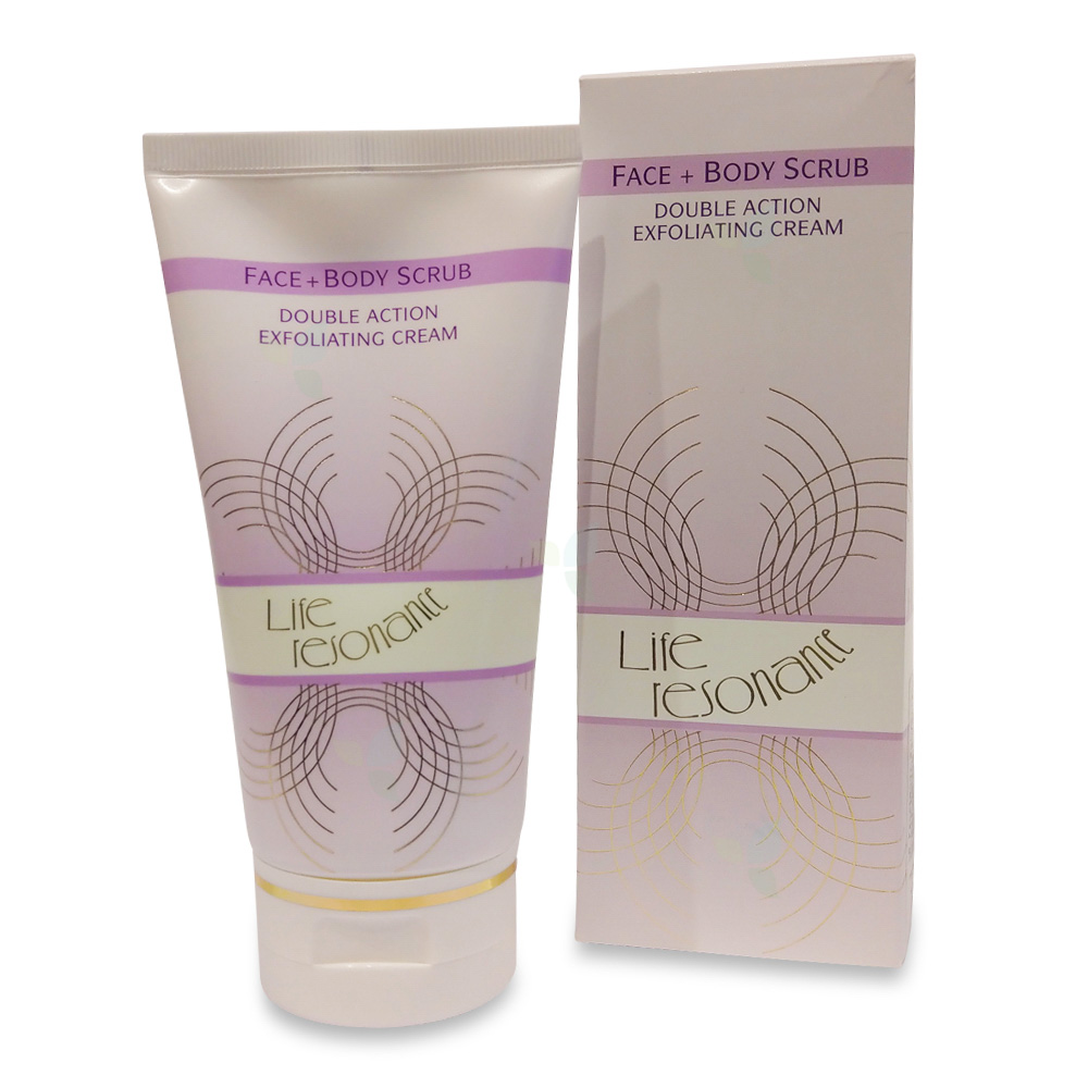 Life Resonance Face&Body Scrub Double Action Exfoliating 150ml