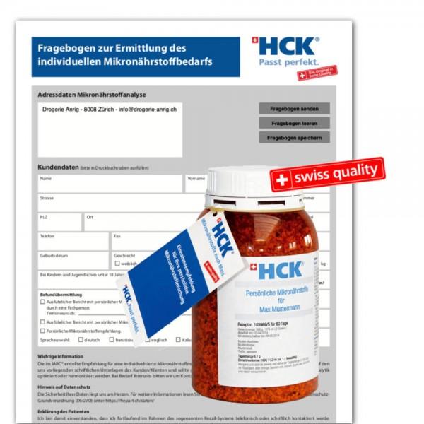 HCK Mikronährstoffmischung Auswertung Fragebogen
