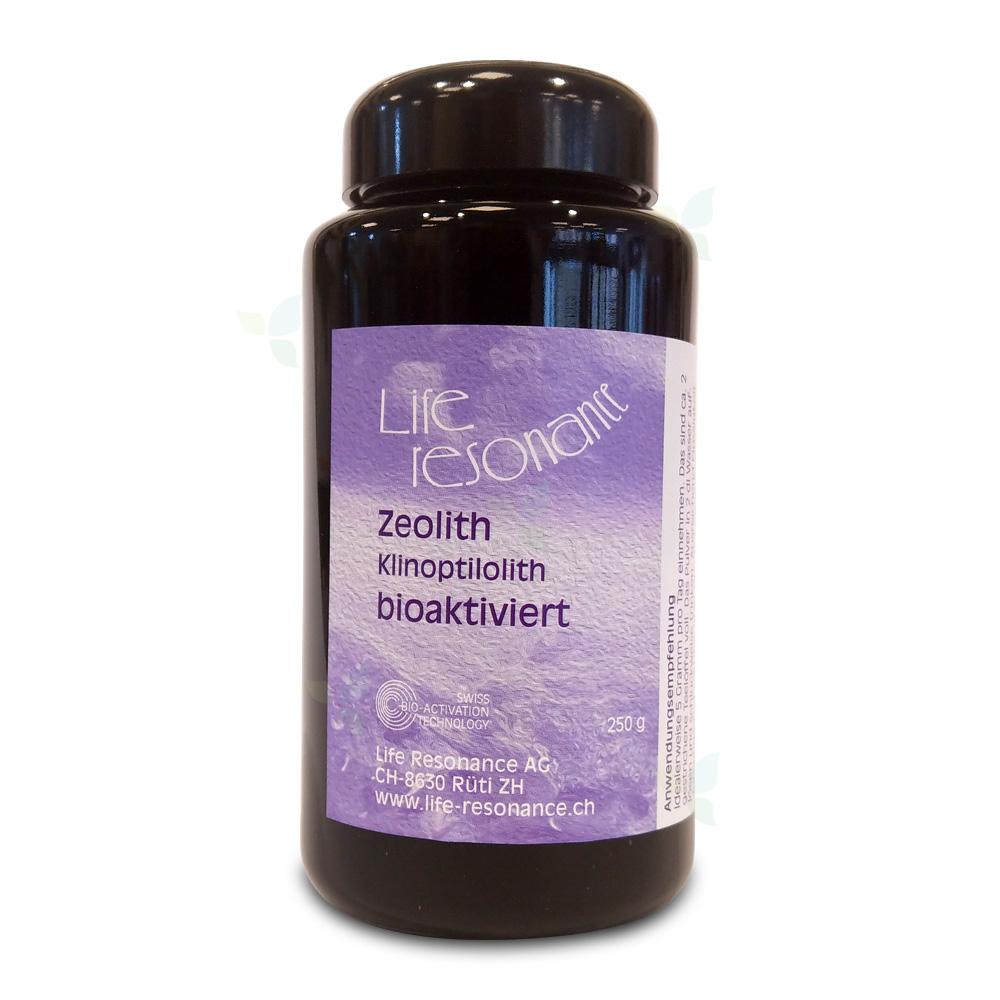 Life Resonance Zeolith Klinoptilolith Bioaktiviert im Blauglas