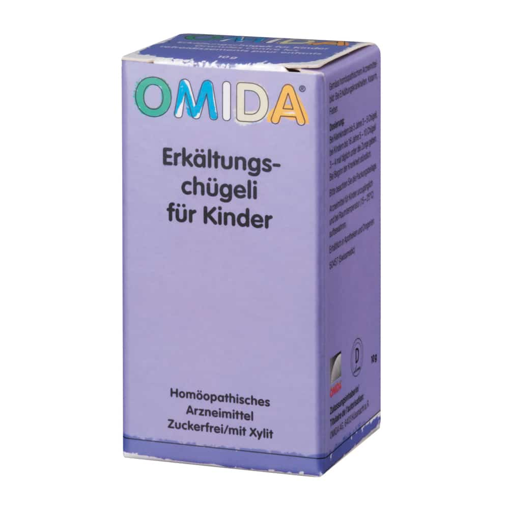 OMIDA Erkältungschügeli für Kinder ohne Zucker 10g