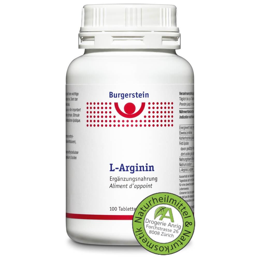 BURGERSTEIN L-Arginin Tabletten 100 Stück