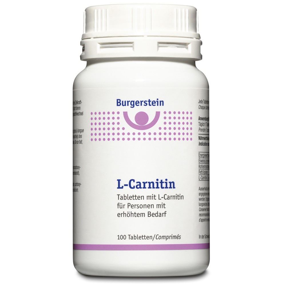 BURGERSTEIN L-Carnitin Tabletten Dose 100 Stück