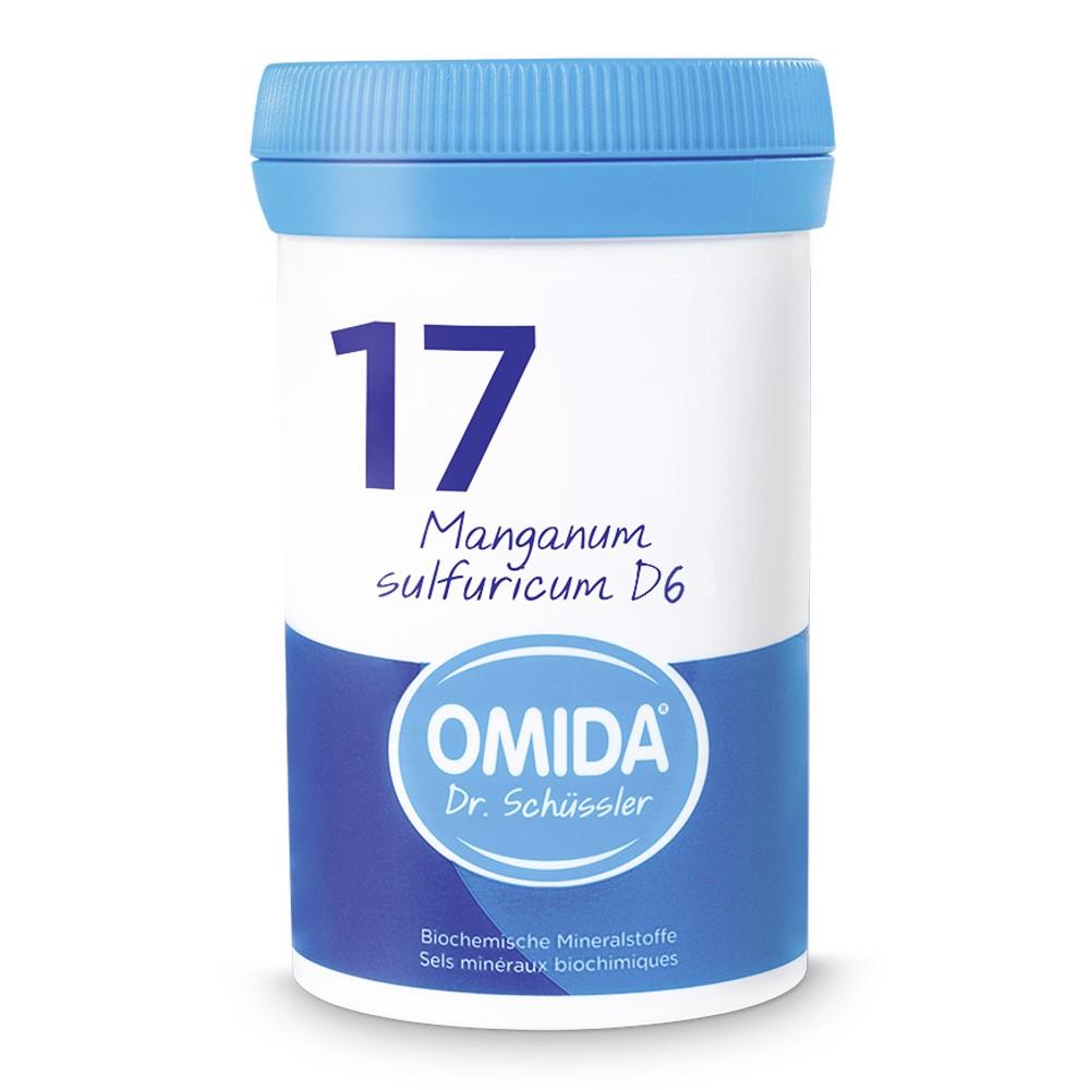 OMIDA SCHÜSSLER 17 Mangan sulfuricum Tabletten D6 100g