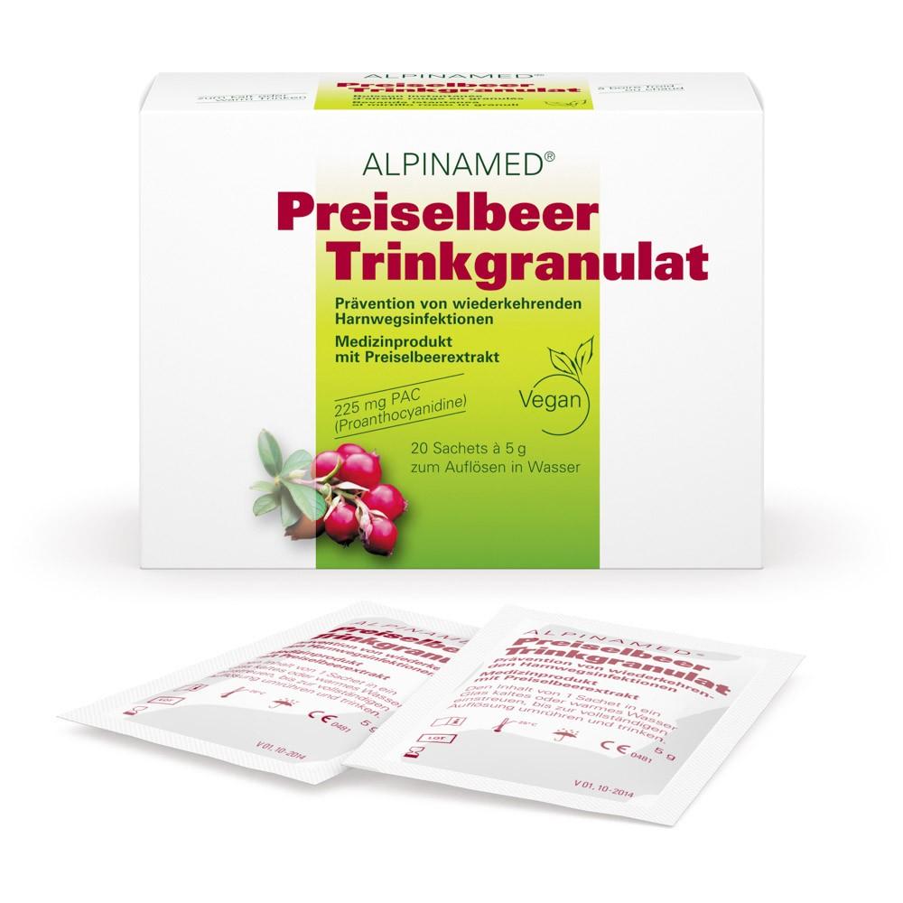 ALPINAMED Preiselbeer Trinkgranulat 20x5g