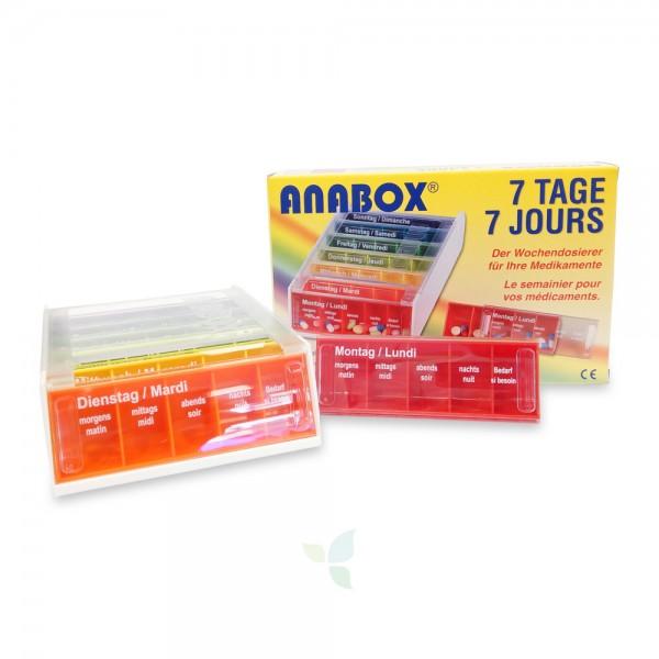 ANABOX Medidispenser 7 Tage Pillenbox bunt