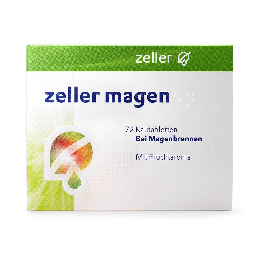 ZELLER Magen Kautabletten 72 Stück