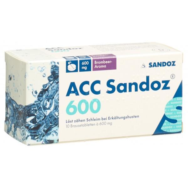 ACC Sandoz Brausetabletten 600mg Brombeer 10 Stück