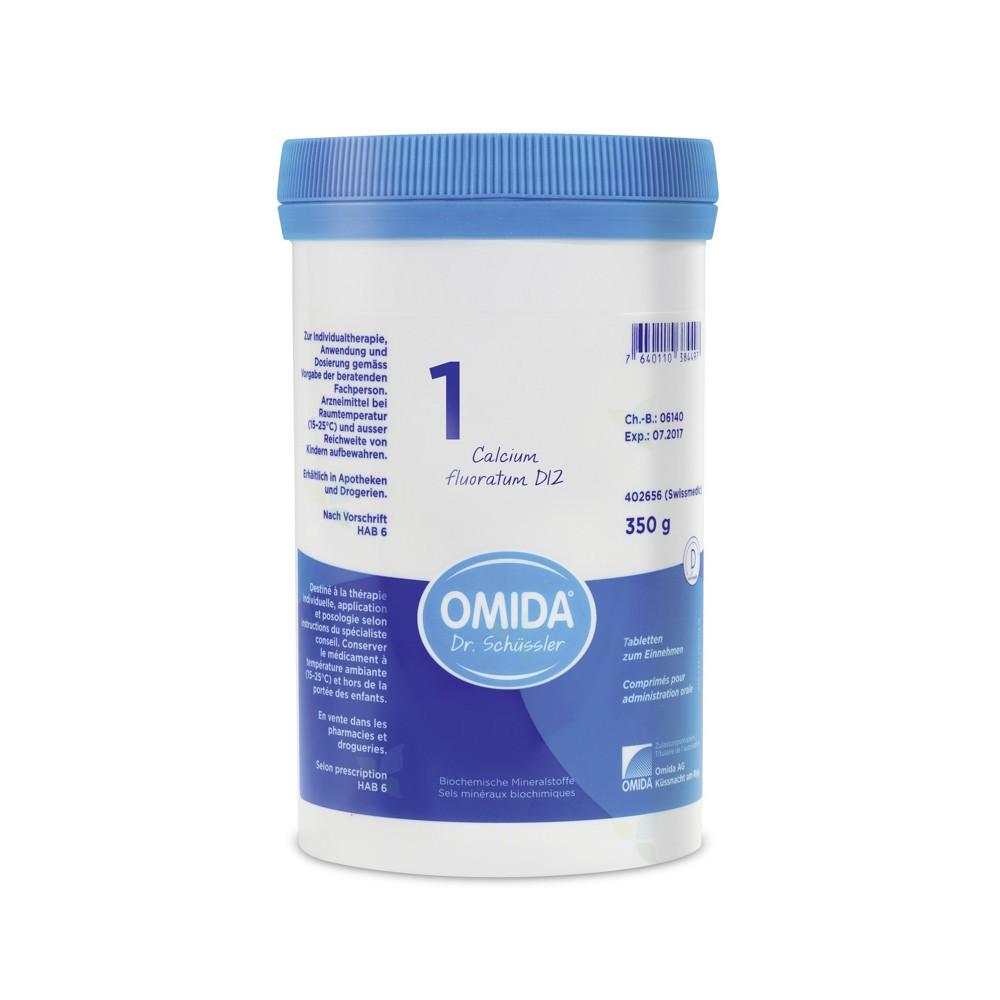 OMIDA SCHÜSSLER 1 Calcium fluoratum Tabletten D12 350g