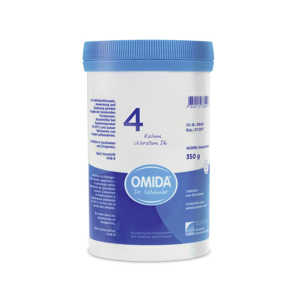 OMIDA SCHÜSSLER 4 Kalium chloratum Tabletten D6 350g