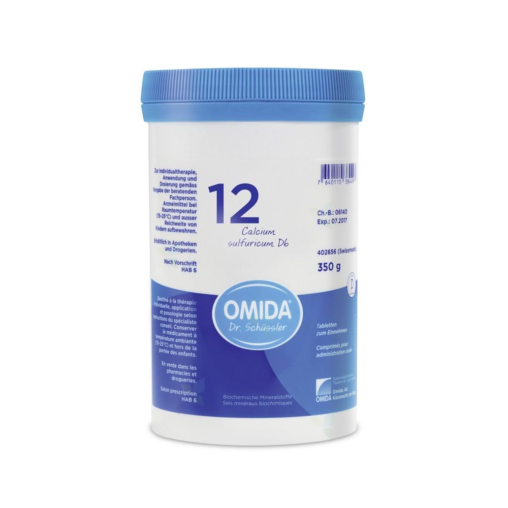 OMIDA SCHÜSSLER 12 Calcium sulfuricum Tabletten D6 350g