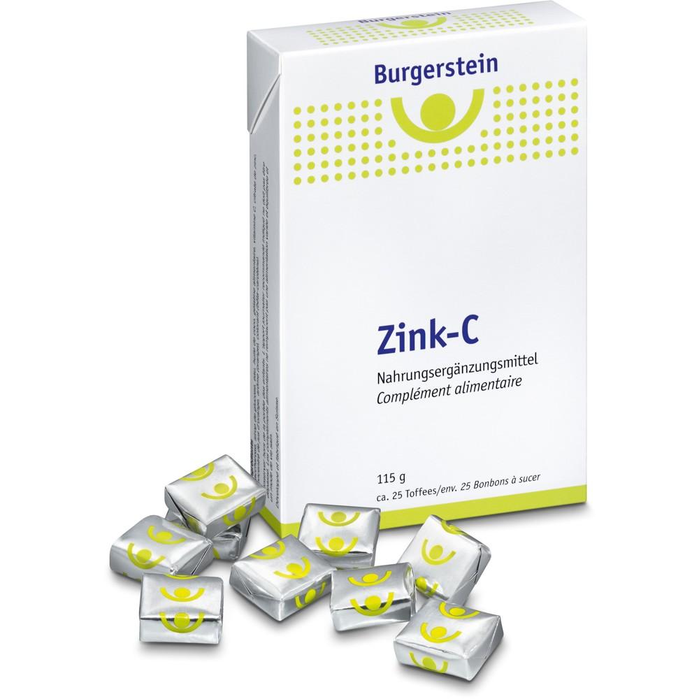 BURGERSTEIN Zink-C Toffees 115g