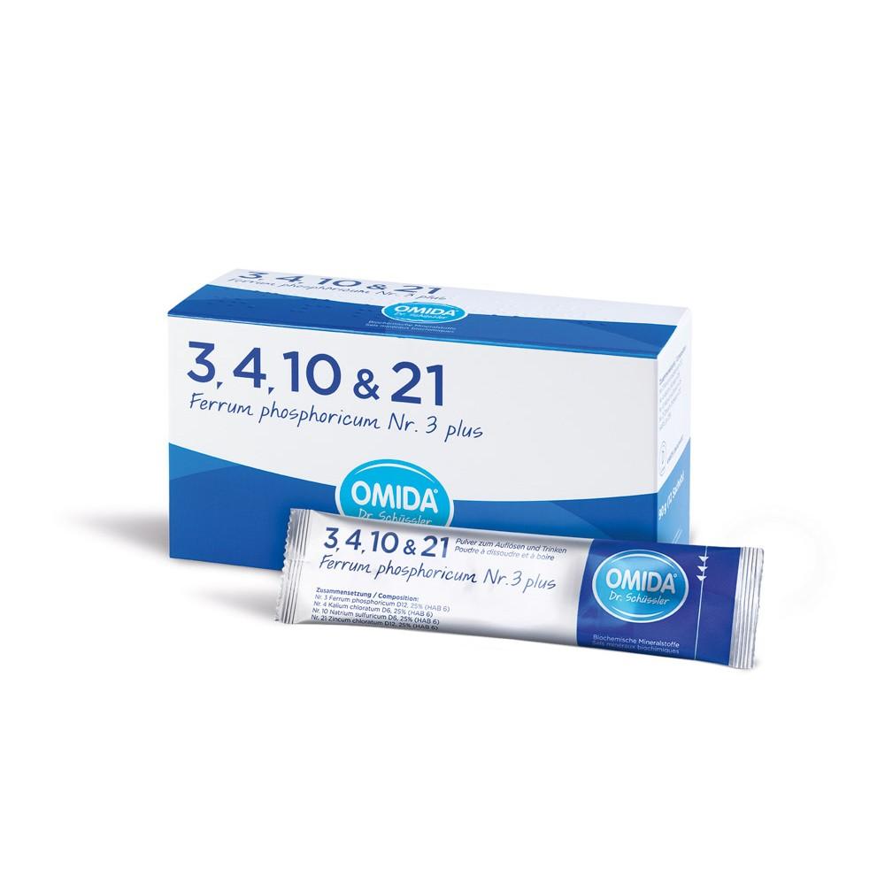 OMIDA SCHÜSSLER 3 Ferrum phosphoricum plus 12 Beutel
