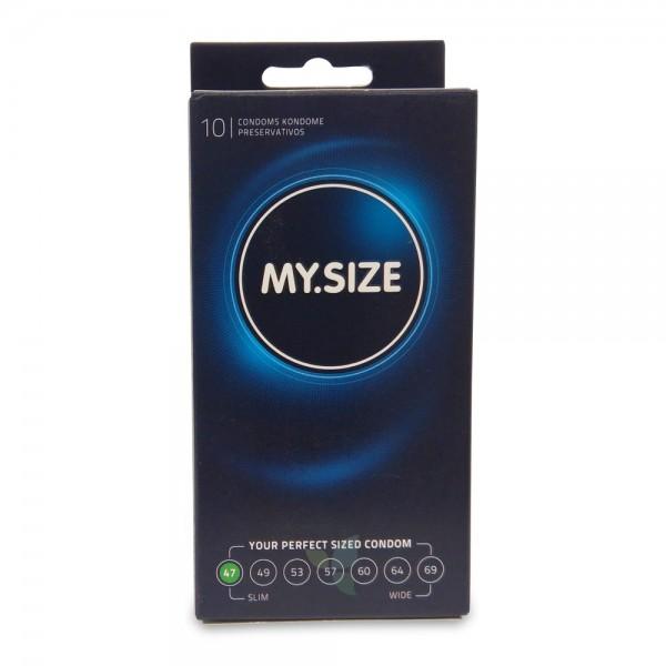 MY SIZE Kondom Präservativ 47mm 10 Stück