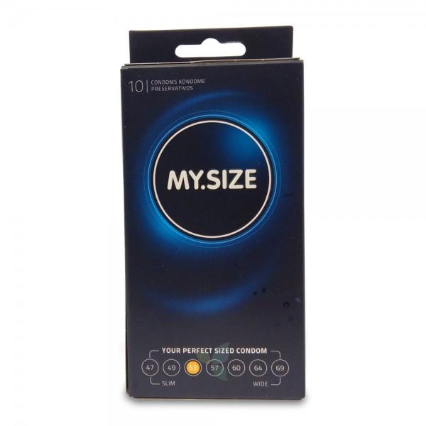MY SIZE Kondom Präservativ 53mm 10 Stück