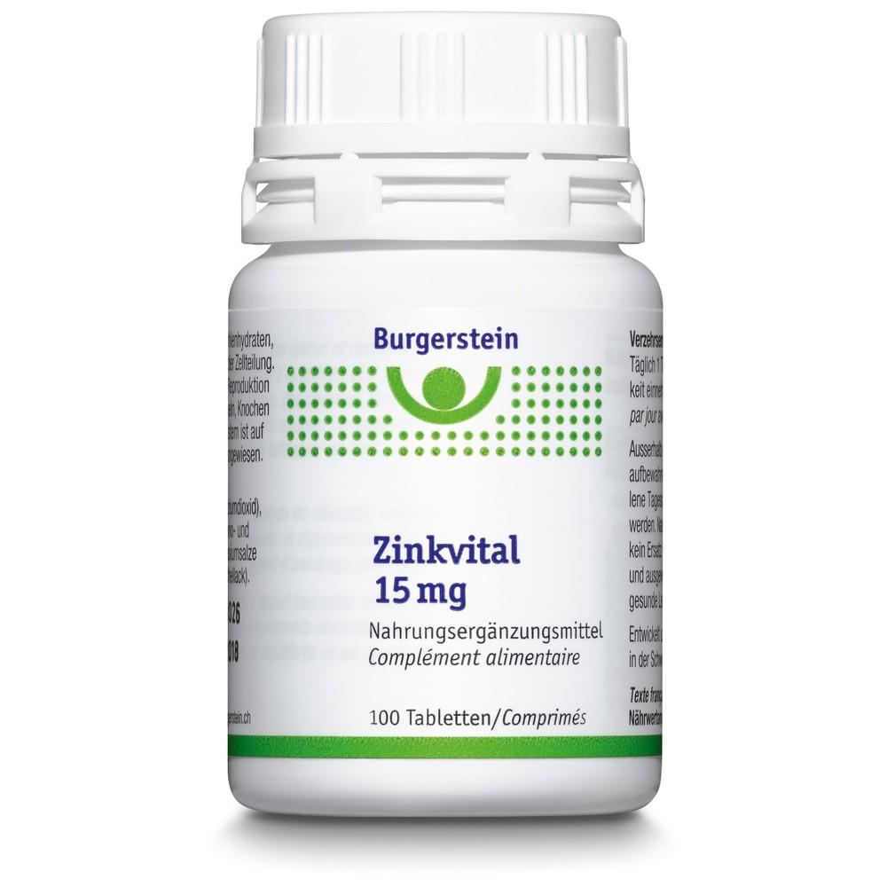 BURGERSTEIN Zinkvital Tabletten 15mg Dose 100 Stück