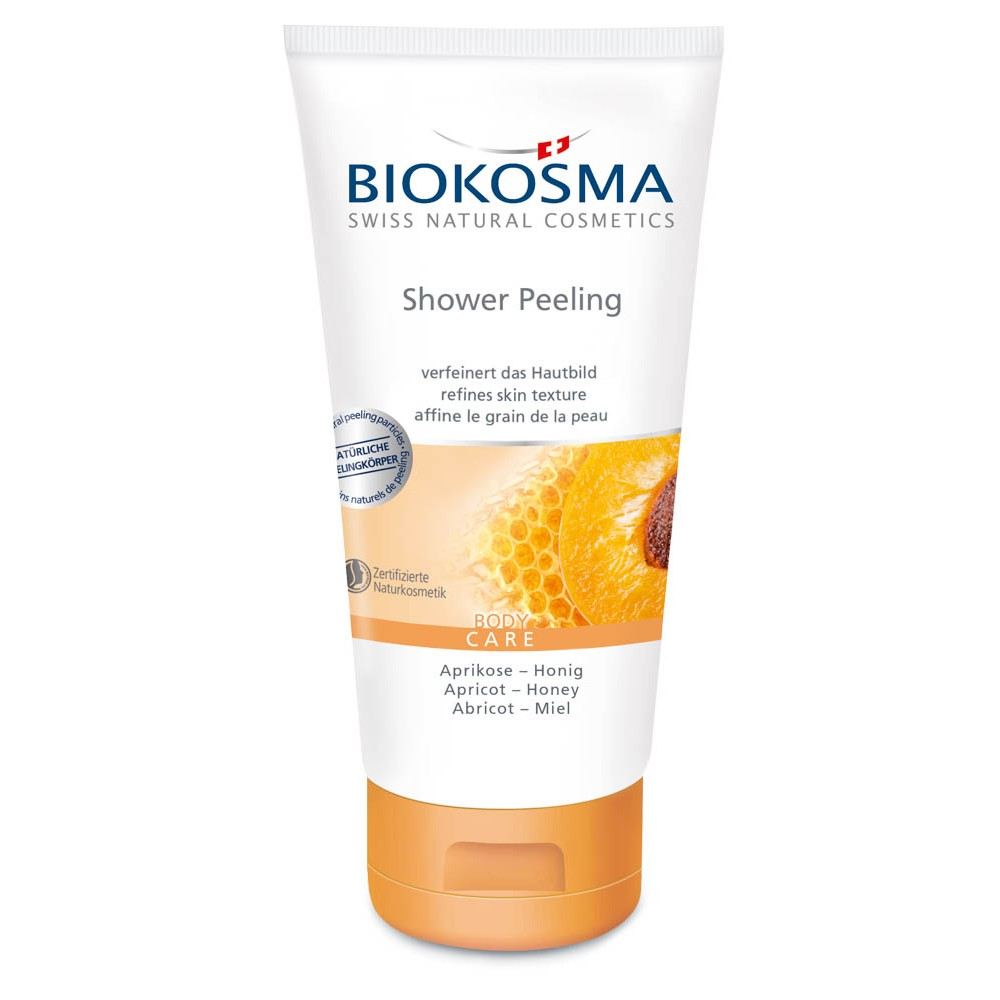 BIOKOSMA Shower Peeling Aprikose-Honig 150ml