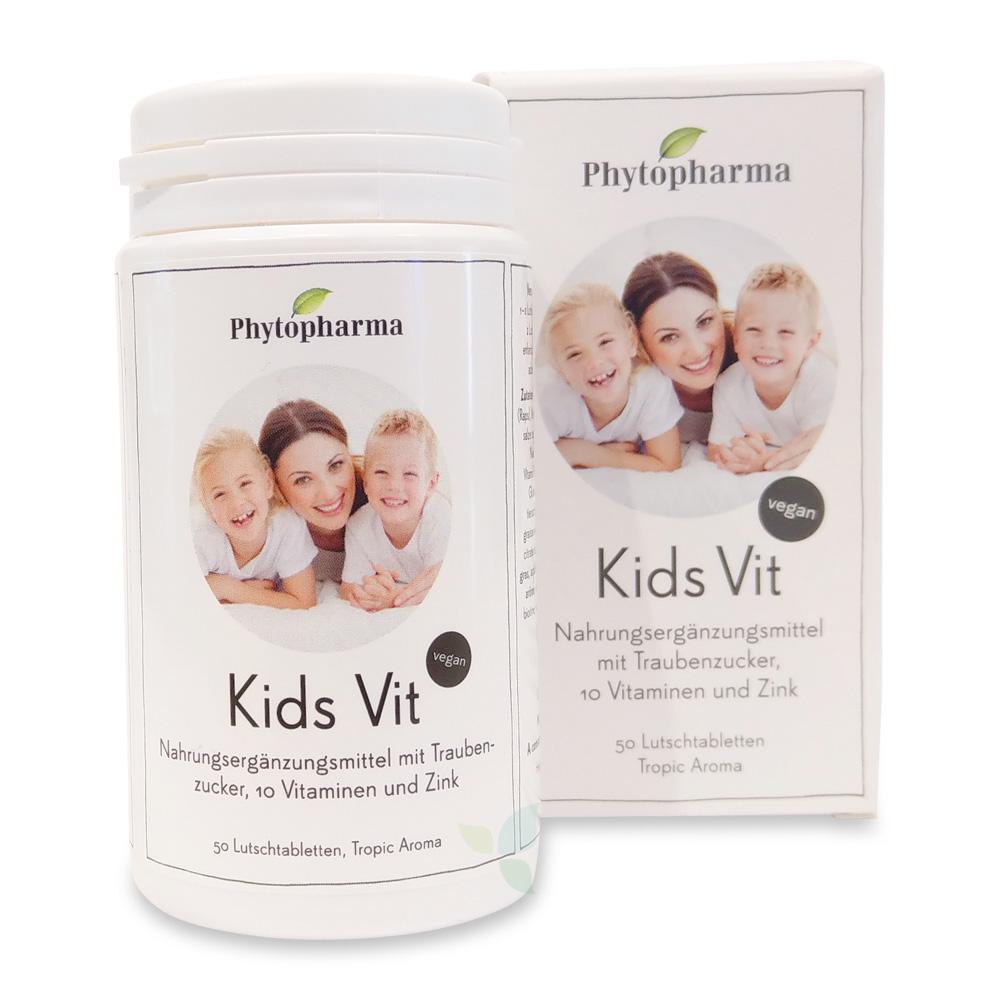 PHYTOPHARMA Kids Vitamin Lutschtabletten 10 Vitamin & Zink 50 Stück