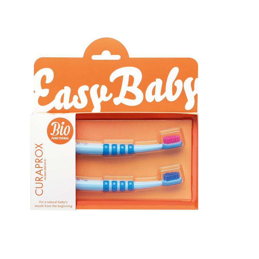 CURAPROX Baby Zahnbürste blau Doppelpack 2 Stück