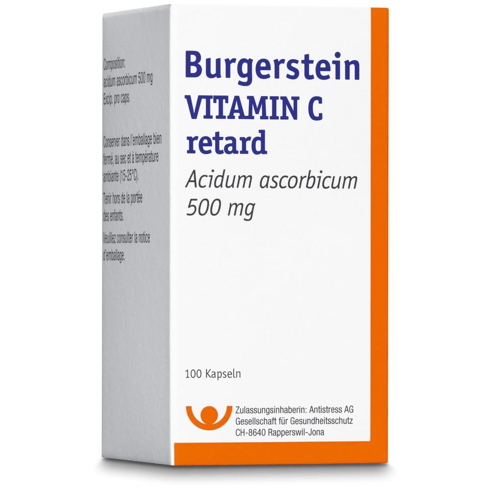 BURGERSTEIN Vitamin C Retard Kapsel 500mg 100 Stück