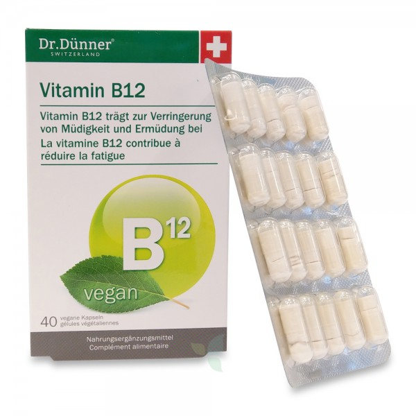 DÜNNER Vitamin B12 Kaps vegan 40 Stück