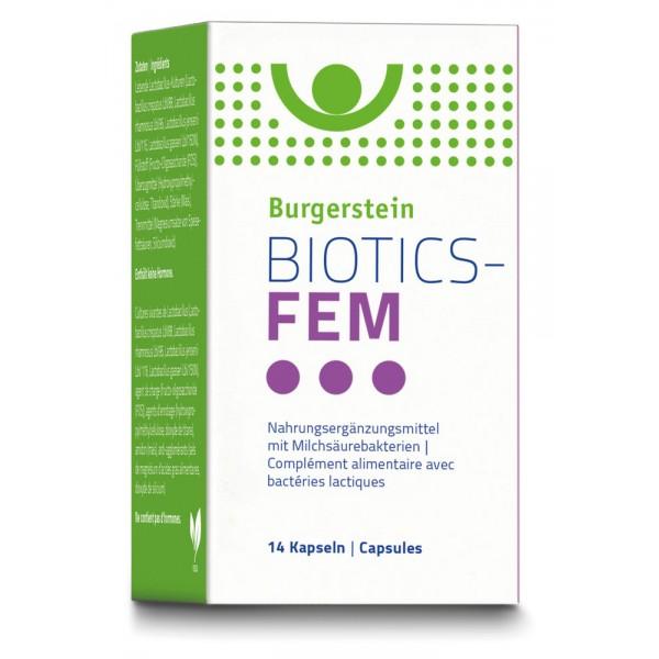 BURGERSTEIN Biotics-Fem Kapseln 14 Stück