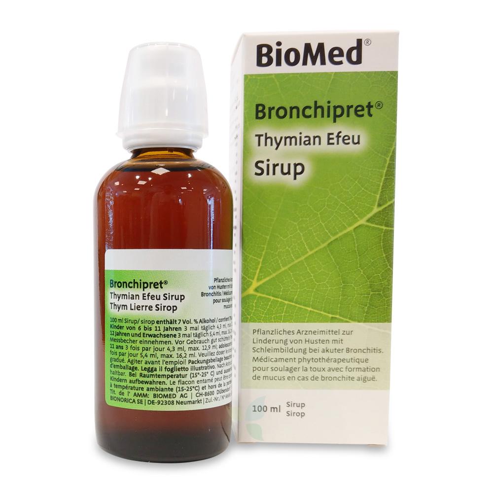 BRONCHIPRET Thymian Efeu Sirup Flasche 100ml