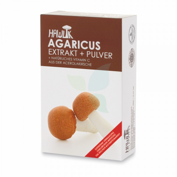 HAWLIK Vitalpilz Agaricus Extrakt+Pulver Kapseln 60 Stück