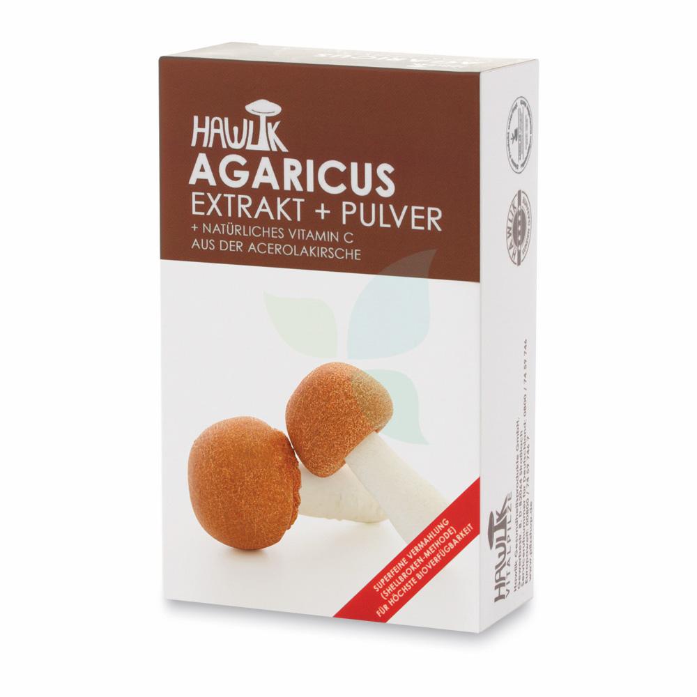 HAWLIK Agaricus Extrakt+Pulver Kapseln 120 Stück