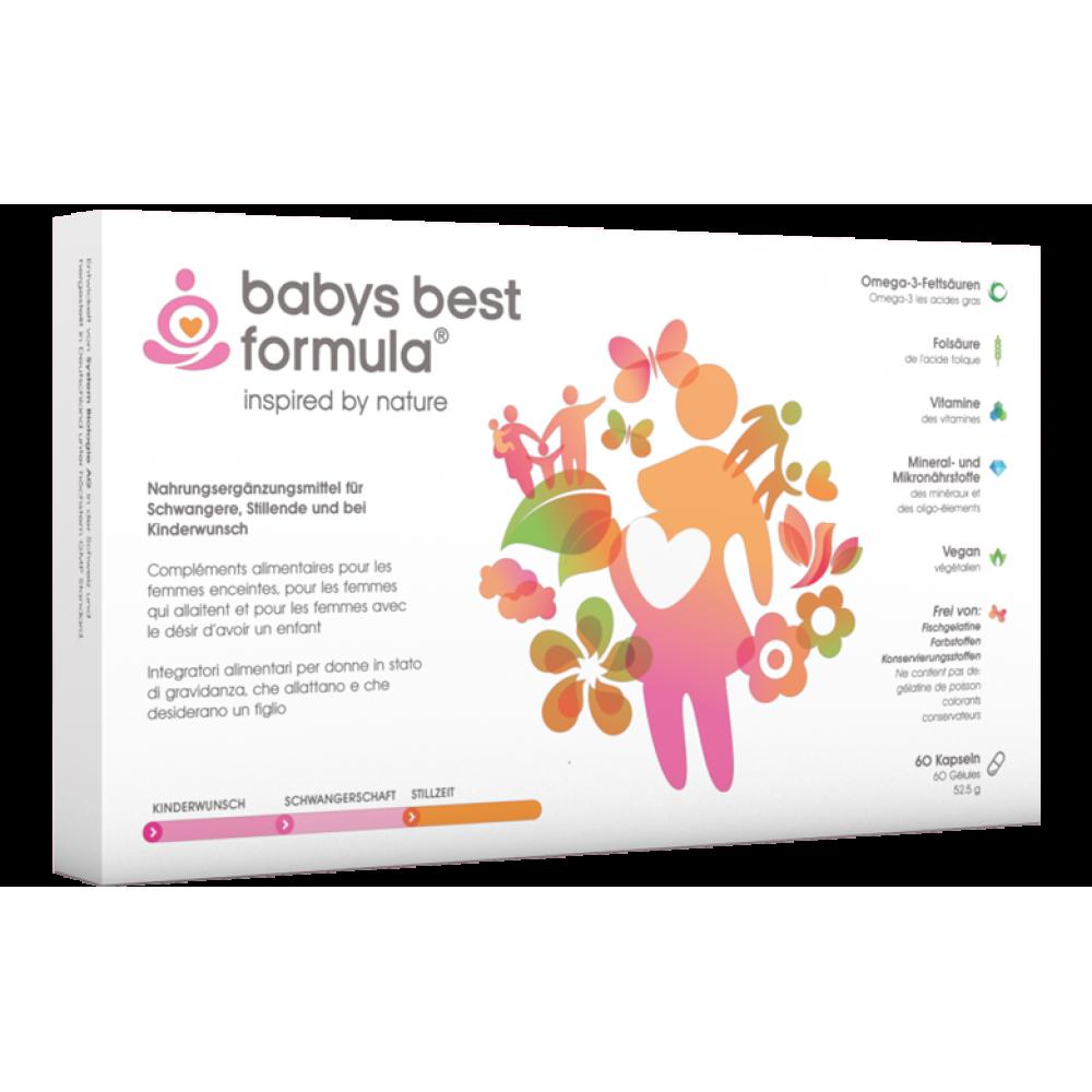 BABYS BEST FORMULA Kapseln 60 Stück für Schwangerschaft und Stillzeit